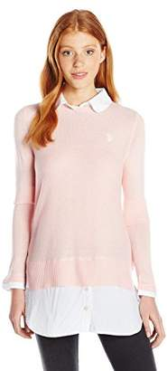 U.S. Polo Assn. Juniors Solid Tunic 2fer Sweater Top
