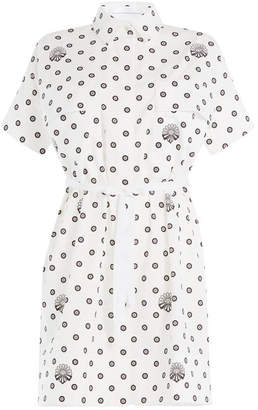 Victoria Beckham Victoria Printed Cotton Shirt Dress