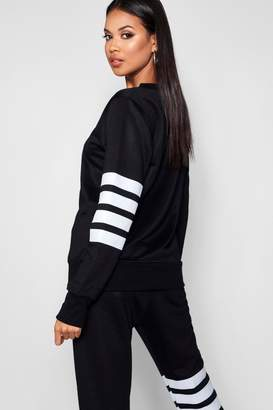 boohoo Julia Athleisure Running Sweat Top