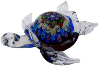 Millefiori Turtle Glass Figurine