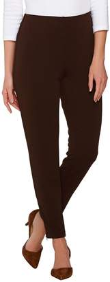Susan Graver Passport Knit Comfort Waist Ankle Pants w/ Zipper Detail