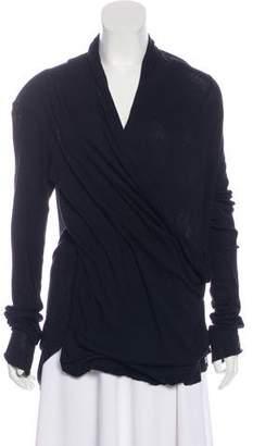 Balmain Surplice Neck Dolman Sleeve Tunic