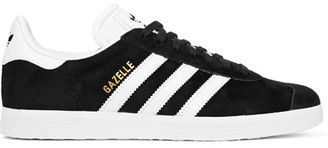 adidas Originals - Gazelle Suede And Leather Sneakers - Black $90 thestylecure.com