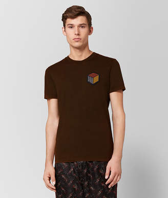 Bottega Veneta DARK LEATHER COTTON T-SHIRT