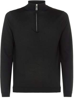 Sandro Zipped Funnel Neck Sweater