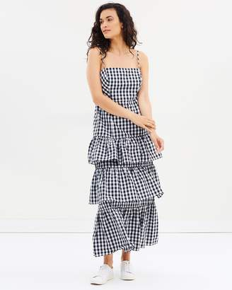 J.Crew Dabble Gingham Long Gown