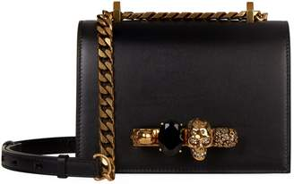Alexander McQueen Small Leather Jewelled Satchel