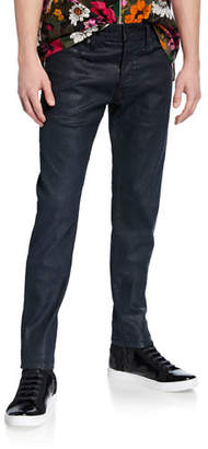 1dd45568ee140a G Star G-Star Men's 3301 Coated Slim-Leg Jeans