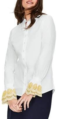 Boden Eyelet Cuff Shirt