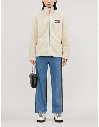 Tommy Jeans Funnel-neck fleece jacket