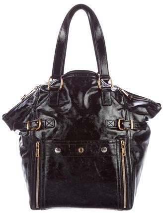 Saint LaurentYves Saint Laurent Patent Leather Downtown Bag