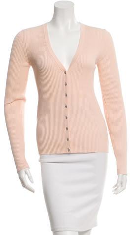 Michael Kors Embellished Rib Knit Cardigan