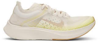 Nike Brown and Gold Zoom Fly SP Fast Sneakers