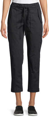 Vince Cropped Straight-Leg Utility Pants
