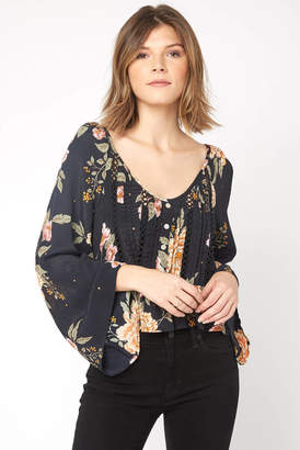 Patrons Of Peace Floral Peplum Blouse