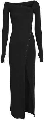 Alix Ribbed Asymmetric Jersey Dress