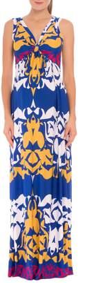 Olian Ellie Print Maternity Maxi Dress