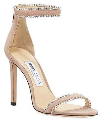 4fac54a05 Jimmy Choo Pink Toe Strap Women s Sandals - ShopStyle
