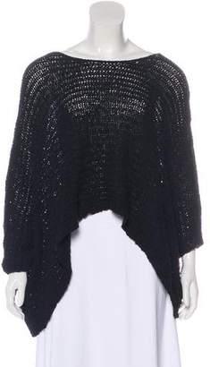 Helmut Lang Crocheted Drop Shoulder Top