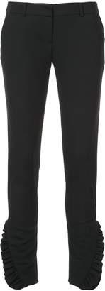 Thomas Wylde Ruffled-cuff classic trousers