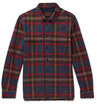 Altea Checked Woven Overshirt