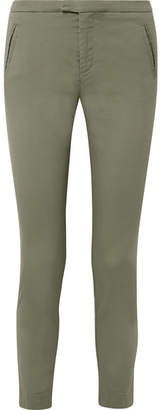 ATM Anthony Thomas Melillo Stretch-cotton Twill Tapered Pants - Army green
