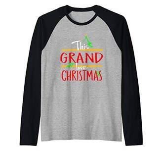 This Grand Loves Christmas Grandfather Holidays Design Raglan Baseball Tee