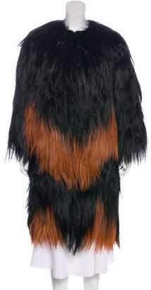 Givenchy Fur Long Coat