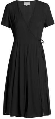 Bower - Casablancas Cotton Wrap Dress - Womens - Black