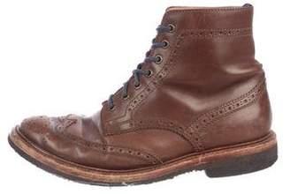 Brunello Cucinelli Leather Wingtip Boots