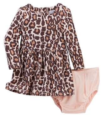 Splendid Animal Print Loose Knit Dress & Bloomer (Baby Girls)