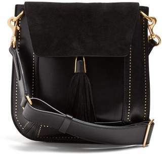 Isabel Marant - Kansy Leather And Suede Tassel Bag - Womens - Black