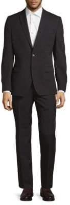 Versace Wool Pinstripe Suit