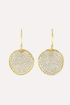 Ippolita Stardust Flower 18-karat Gold Diamond Earrings