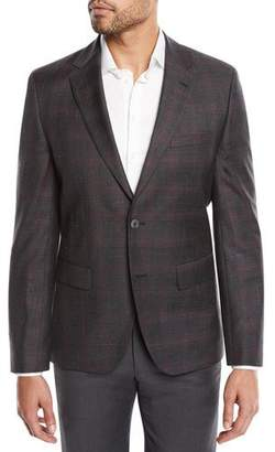 BOSS Jewels Regular-Fit Two-Button Check Jacket