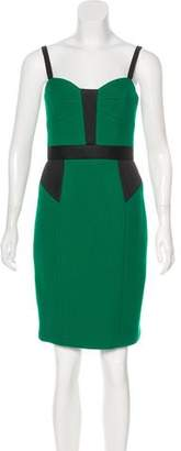 Milly Mesh-Accented Wool Dress w/ Tags