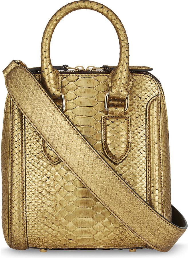 Alexander McQueenAlexander Mcqueen Mini Herione python-skin shoulder bag