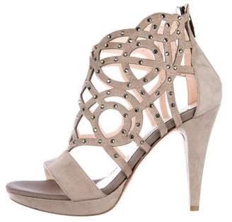 Albano Suede Embellished Sandals