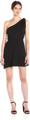 Loveappella Women's One Shoulder Tie Dress