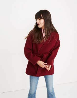 Madewell Belted Wrap Coat