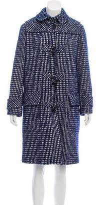 Bottega Veneta Wool-Blend Gingham Coat