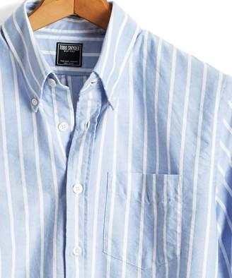 Todd Snyder Bold Stripe Oxford Shirt in Light Blue