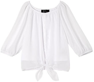 Ally B Girls 7-16 Self-Tie Blouse $34 thestylecure.com