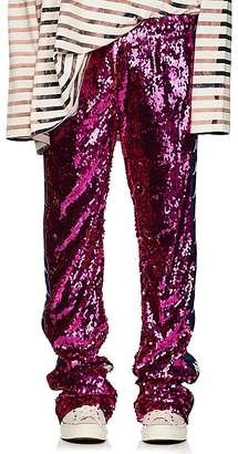 Faith Connexion Men's Sequined Wide-Leg Track Pants