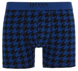 Boxer briefs in printed stretch cotton