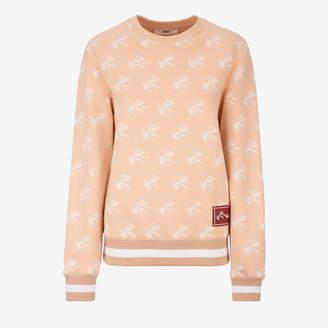 Bally Sweatshirt X Consumer Pink, Women's cotton fleece sweatshirt in flesh