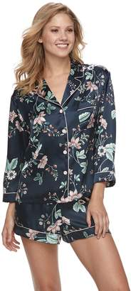 Apt. 9 Women's Satin Shirt & Shorts Pajama Set