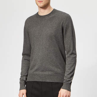Men's 14 Gauge Knitted Jumper Dark Grey