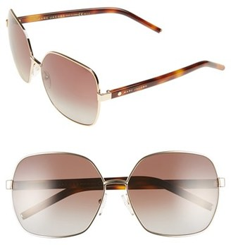 MARC JACOBS 61mm Polarized Oversized Sunglasses $160 thestylecure.com