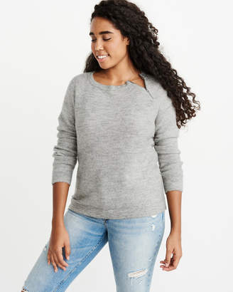 Abercrombie & Fitch Pullover Zipper Crew Sweater